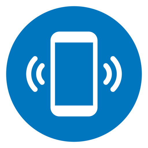 Cellphone ringing blue icon Transparent PNG