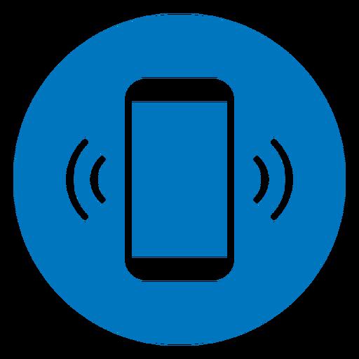 Teléfono celular sonando icono azul