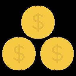 Icono plano monedas