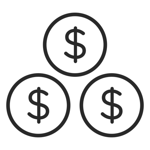 Coins stroke icon
