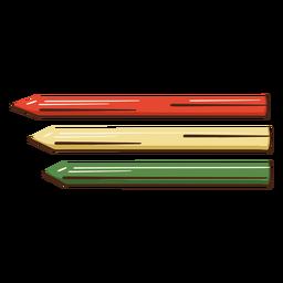 Ilustración de lápices de colores