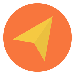 Compass arrow flat icon