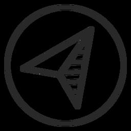 Compass arrow stroke icon
