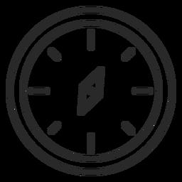Compass stroke icon