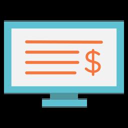 Ícone plano da tela do computador