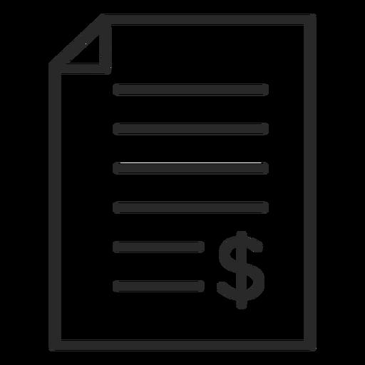 Icono de trazo de contrato