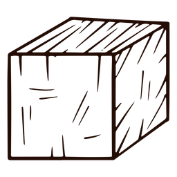 Cube shape hand drawn