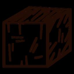 Dibujado a mano en forma de cubo