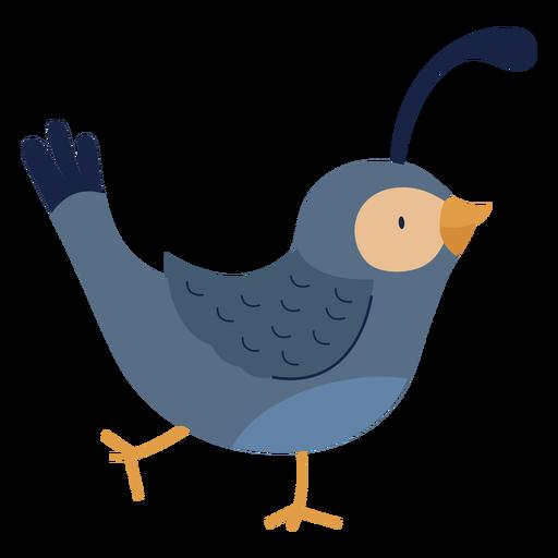 Cute bird side animal flat
