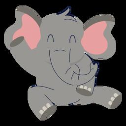 Cute elephant animal flat