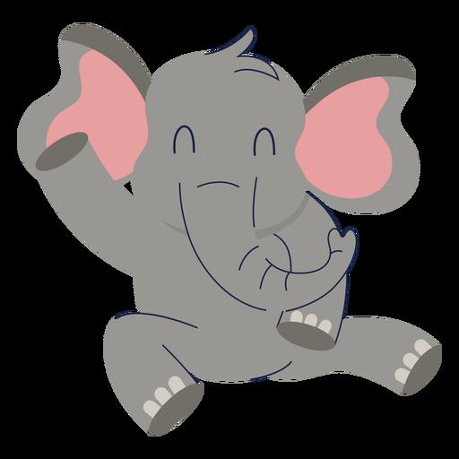 Lindo animal elefante plano