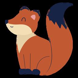 Animal bonito raposa plana