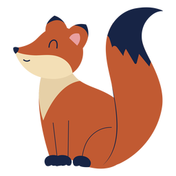 Cute fox animal flat