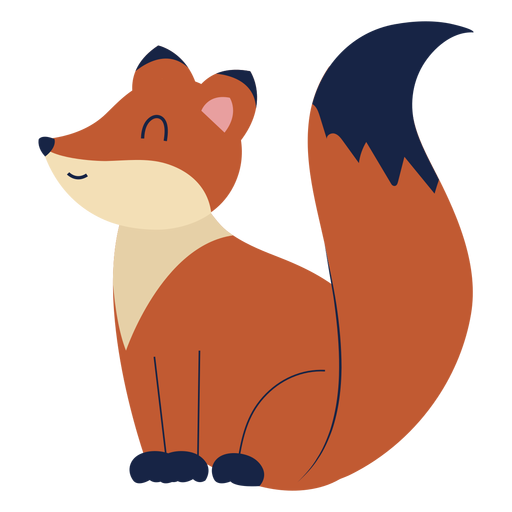 Cute fox animal flat Transparent PNG