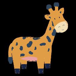 Animal bonito girafa plana