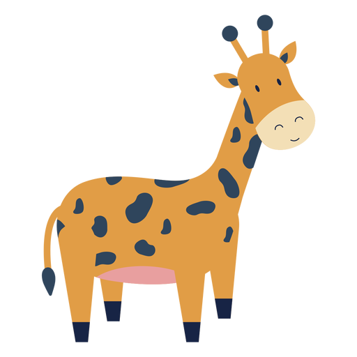 Cute giraffe animal flat Transparent PNG