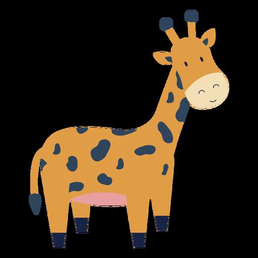 Lindo animal jirafa plana