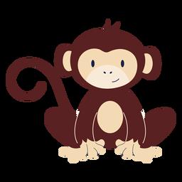 Cute monkey animal flat