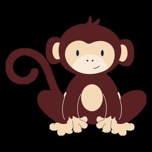 Animal macaco bonito plana