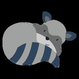 Plano animal lindo mapache