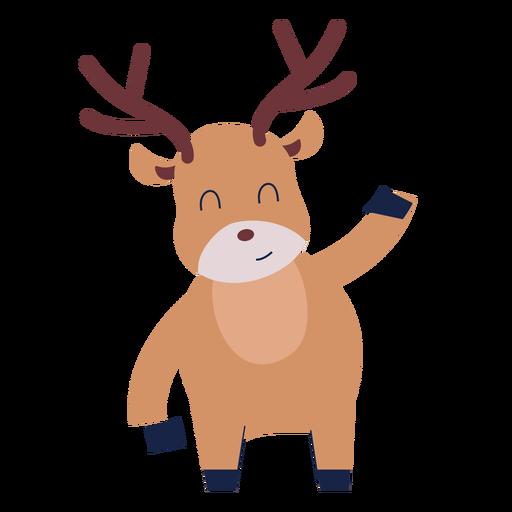 Cute reindeer animal flat