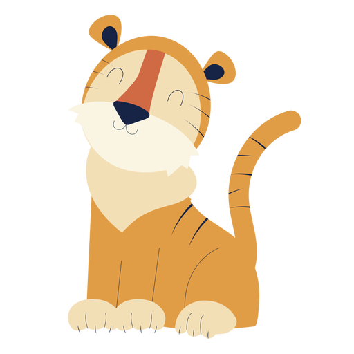 Animal bonito tigre plana