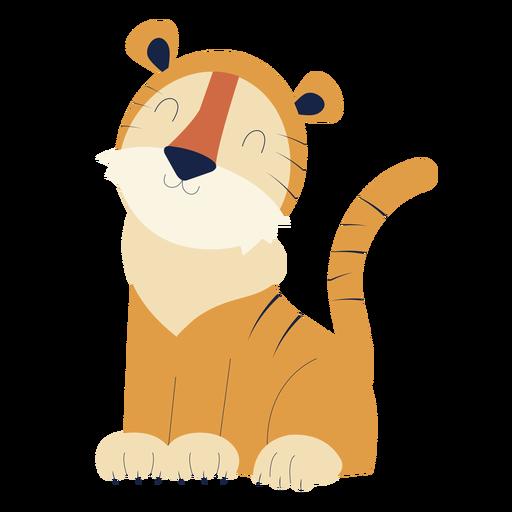 Lindo animal tigre plano