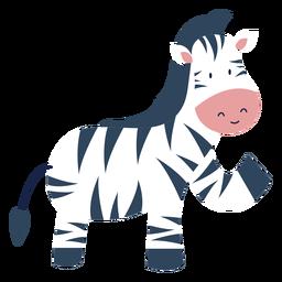 Animal bonito zebra plana
