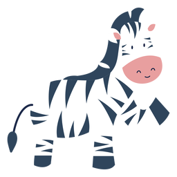 Cute zebra animal flat