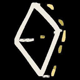 Diamond shape doodle