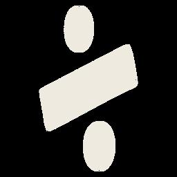 Símbolo de división plano