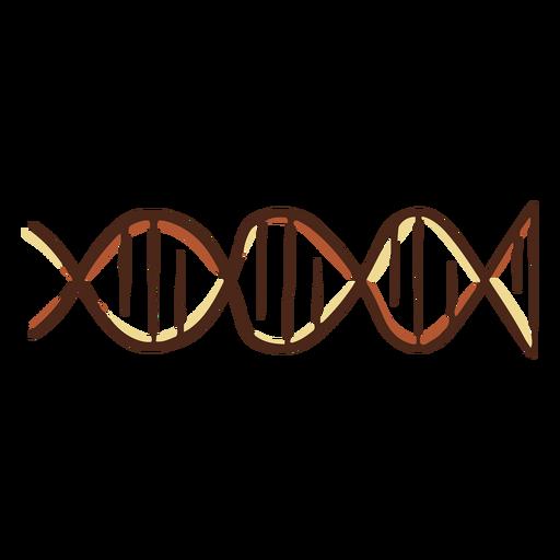 Ilustración de genes de adn