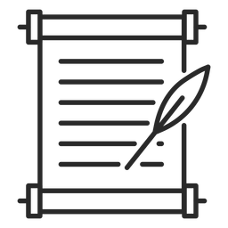 Document quill stroke icon
