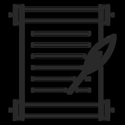 Icono de trazo de pluma de documento