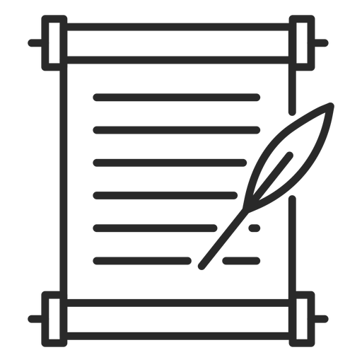 Document quill stroke icon Transparent PNG