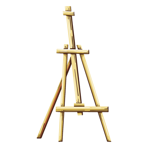 Easel painting illustration