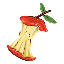 Ilustración de fruta de manzana comida