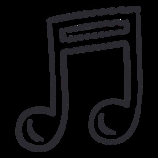 Eighth note stroke