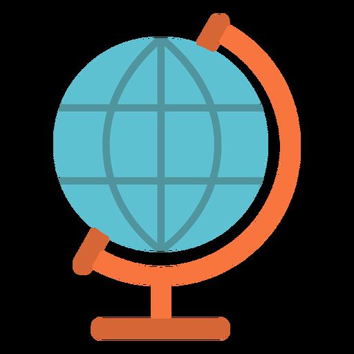 Icono de globo plano