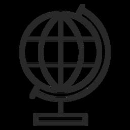 Icono de trazo de globo