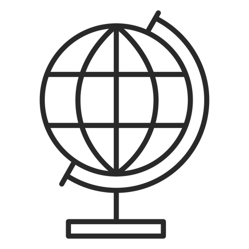 Globe stroke icon Transparent PNG