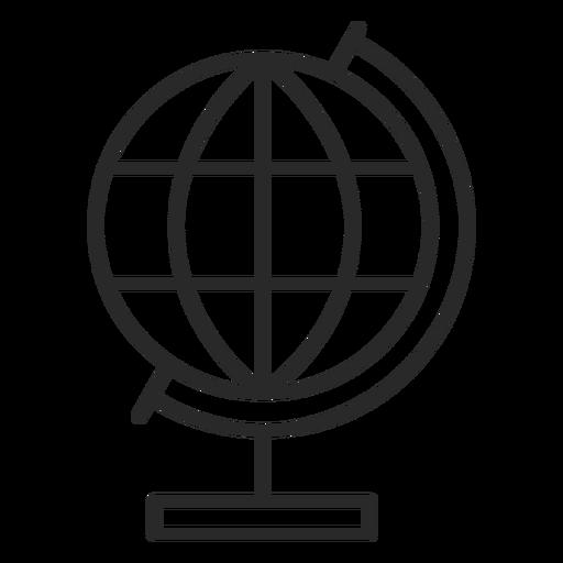 Globe stroke icon