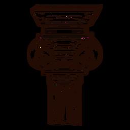 Mão da coluna grega desenhada