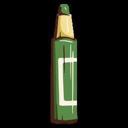 Ilustración de la escuela marcador verde