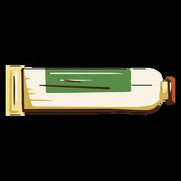 Green paint tube illustration