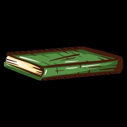 Green school book illustration