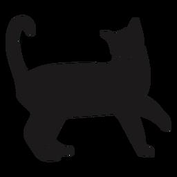 Gato feliz silueta animal