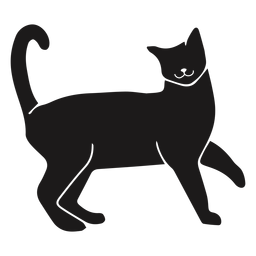 Happy cat animal silhouette