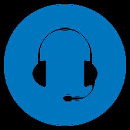 Icono de auriculares azul