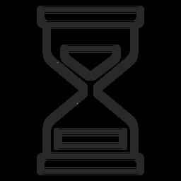 Reloj de arena icono de trazo reloj de arena